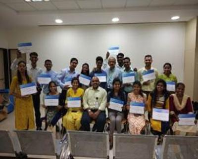 Students received TCS training certificate