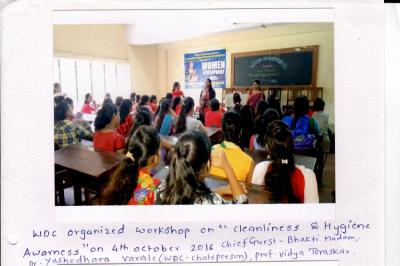 Students attending guidance lecture on competitive exam